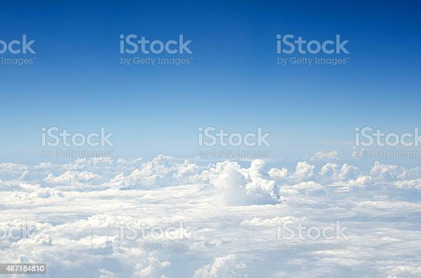 Photo of Aerial view of blue sky and clouds