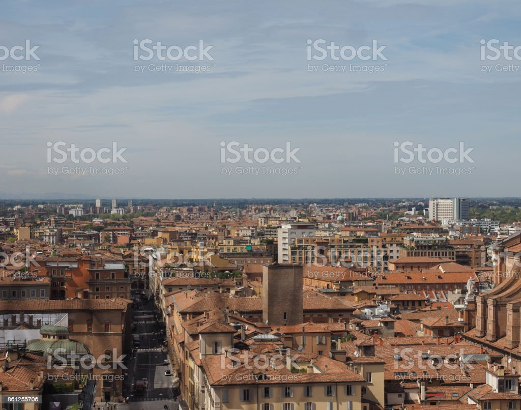 Aerial view of Bologna royalty-free stock photo