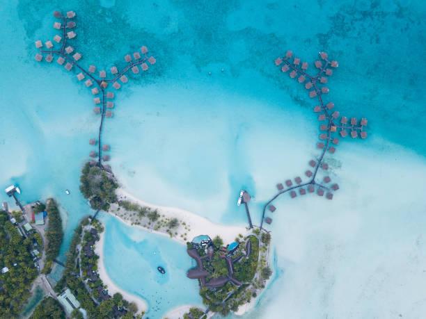 Luftaufnahme von Bora Bora, Französisch-Polynesien – Foto