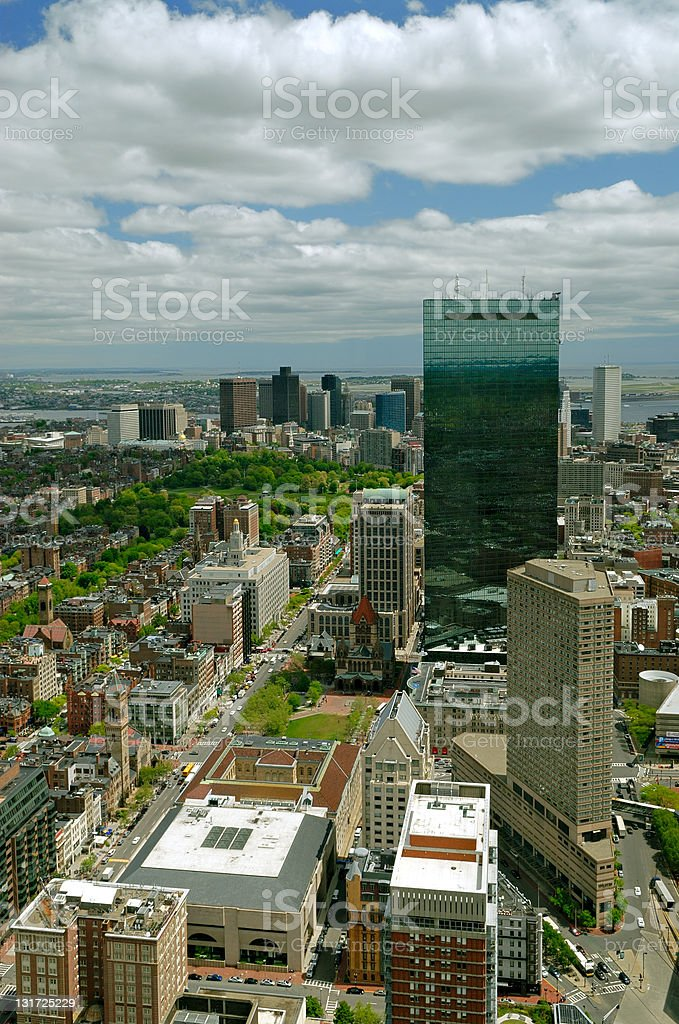 Aerial View of Boston royalty-free stock photo