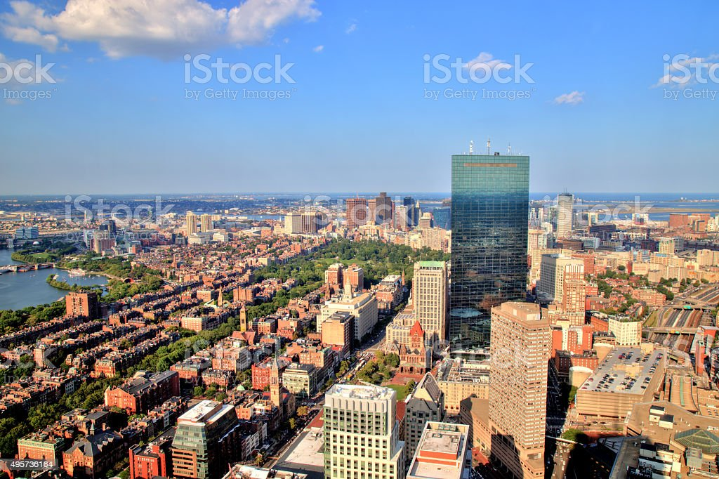 Aerial View of Boston stock photo