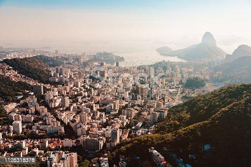 Aerial view of Botafogo disctrict at Rio de Janeiro