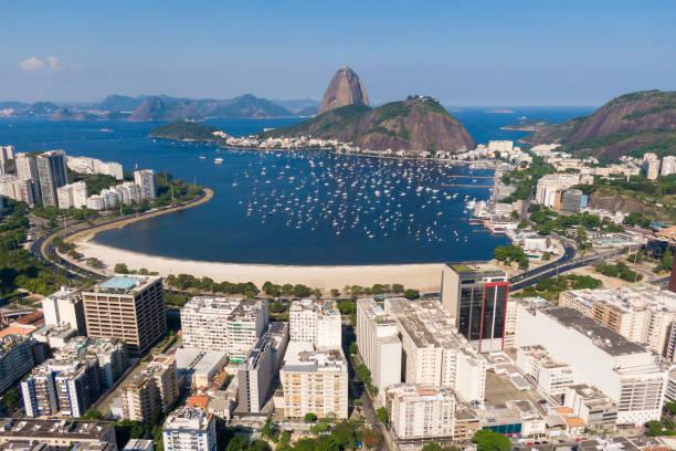 Aerial View of Botafogo Neighborhood stock photo
