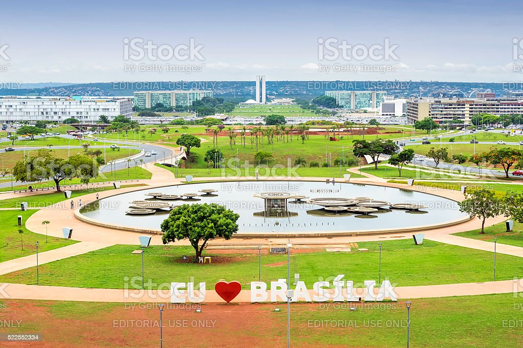 Aerial View of Brasilia, Capital of Brazil stock photo