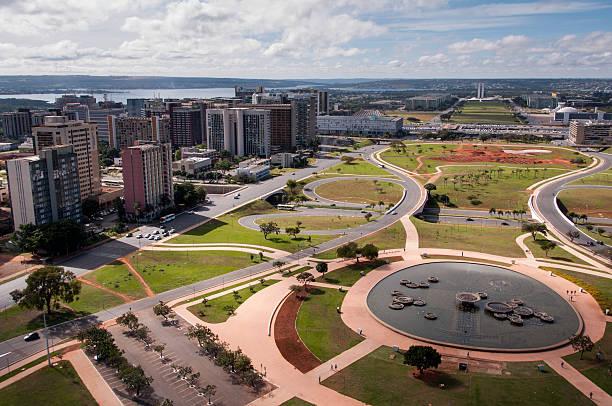 Aerial View of Brasilia City stock photo