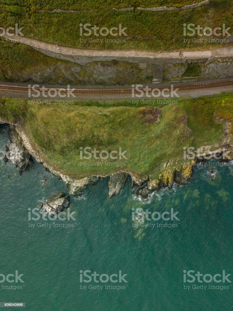 Aerial view of Bray seafront, Bray, co. Wicklow, Ireland. royalty-free stock photo