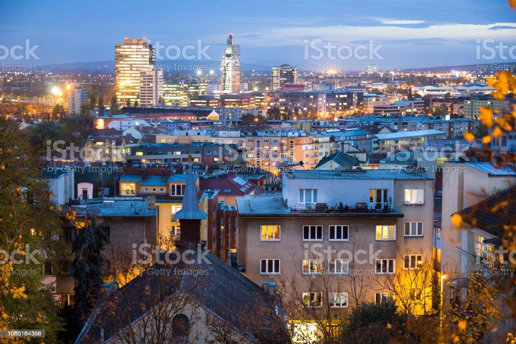 Luftaufnahme von Brno, Tschechische Republik – Foto
