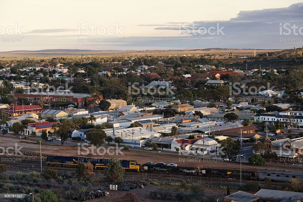 Aerial view of Broken Hill, outback Australia stock photo