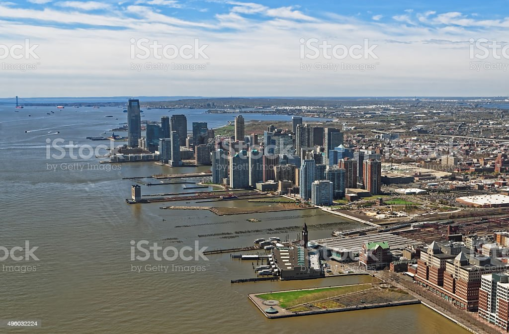 Aerial view of Brooklyn, most populous borough of New York stock photo
