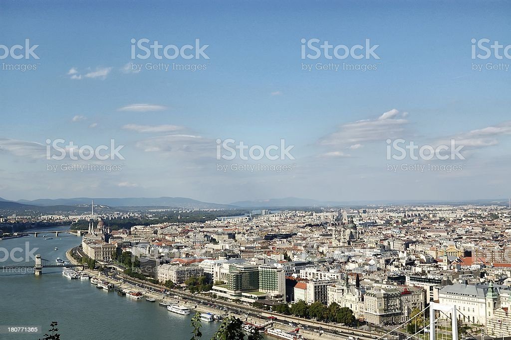 Aerial view of Budapest royalty-free stock photo
