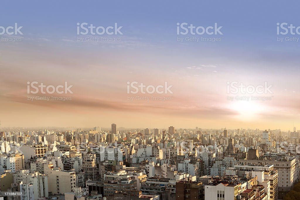 Aerial View of Buenos Aires Argentina from Palacio Barolo stock photo