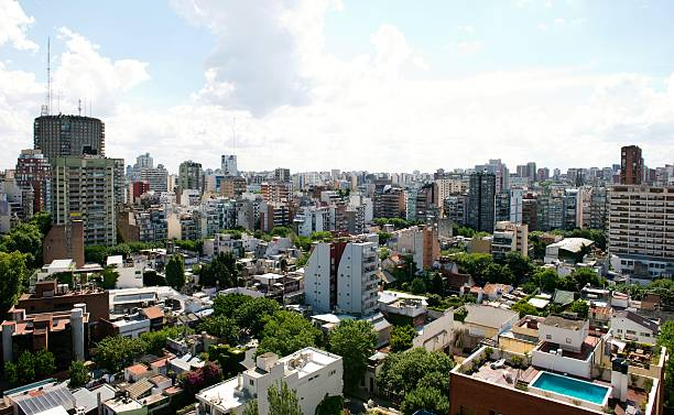Aerial view of Buenos Aires,Argentina stock photo