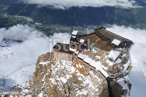 istock Aerial View of Building on the Mountain Peak - XLarge 183215329