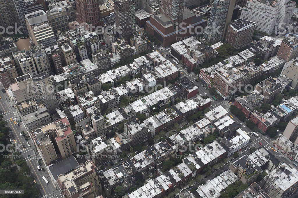 Aerial view of buildings in a city royalty-free stock photo
