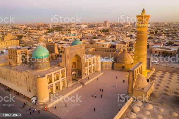 Luchtfoto Van Bukhara Historische Zijderoute Oezbekistan Stockfoto en meer beelden van Antiek - Toestand