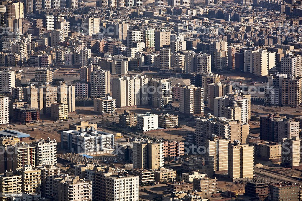 Aerial view of Cairo, royalty-free stock photo