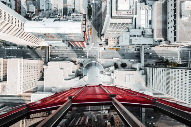luftaufnahme von calgary - kanada rundreise stock-fotos und bilder