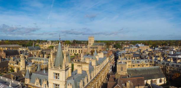 Vista aérea de Cambridge - foto de acervo