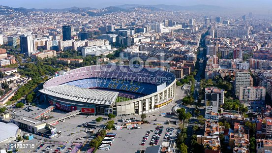November 1, 2019, Barcelona, Spain : Camp Nou is the home stadium of famous FC Barcelona since its completion in 1957. With a seating capacity of 99,354, it is the largest stadium in Spain and Europe