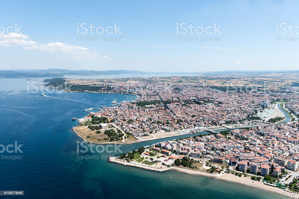 Aerial view of Canakkale City, Turkey – Foto
