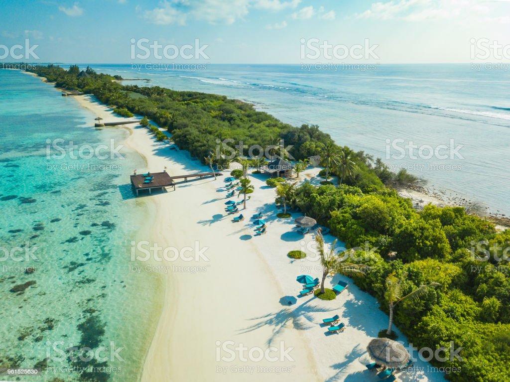 Aerial View Of Canareef Resort Maldives Herathera Island