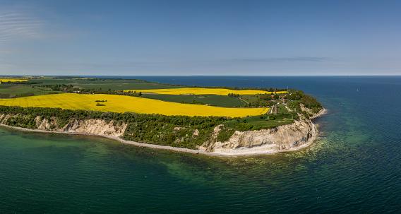 Aerial view of Cape Arkona on the island of Ruegen in Mecklenburg-Vorpommern