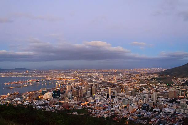 aerial view of cape town from signal hill, south africa - dunkle flecken entferner stock-fotos und bilder