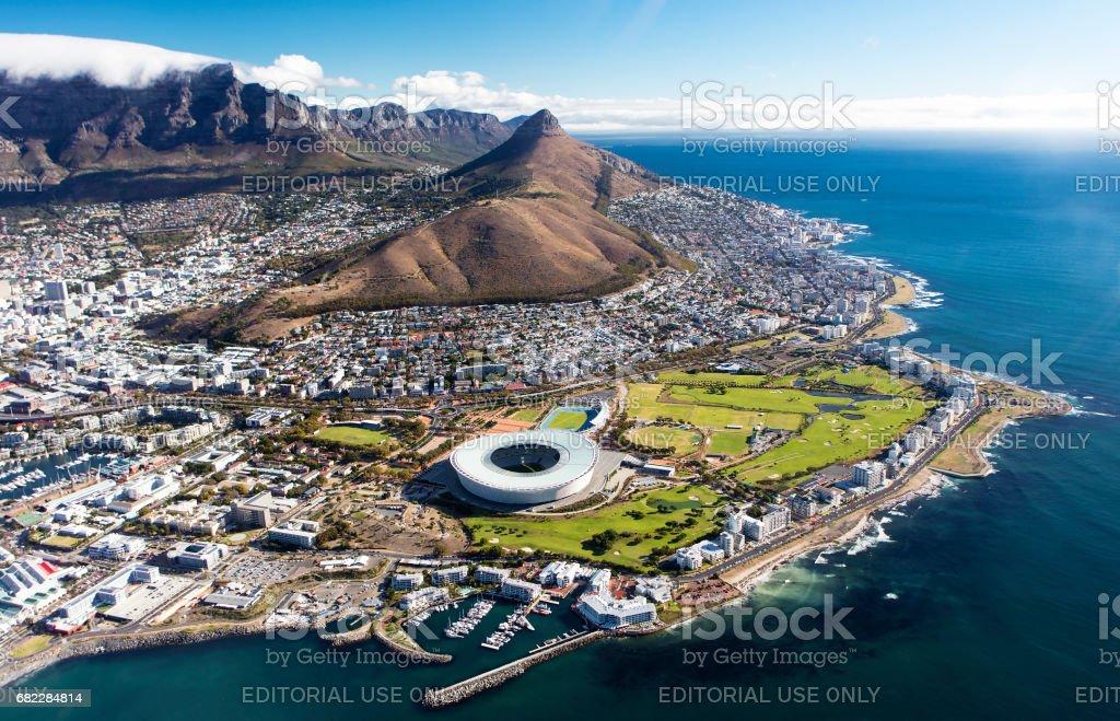 Vista aérea de ciudad del cabo - foto de stock