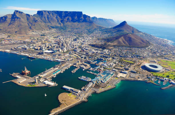 Aerial view of Cape Town Aerial view of Cape Town, South Africa south africa stock pictures, royalty-free photos & images