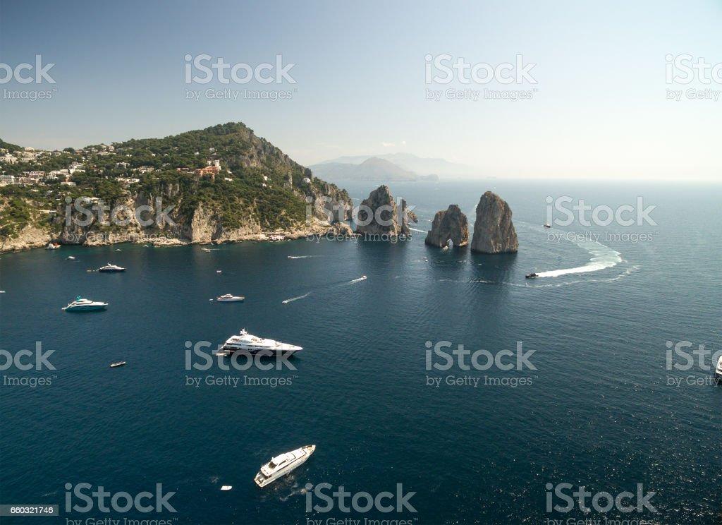 Aerial View of Capri Island, Italy stock photo