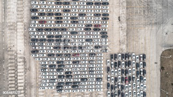 652712094 istock photo Aerial view of car parking top view 908487322
