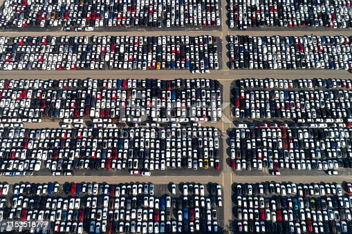 652712094 istock photo Aerial view of cars 1153518777