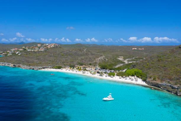 Luftaufnahme von Cas Abao Beach und Küstenbild in Curacao – Foto