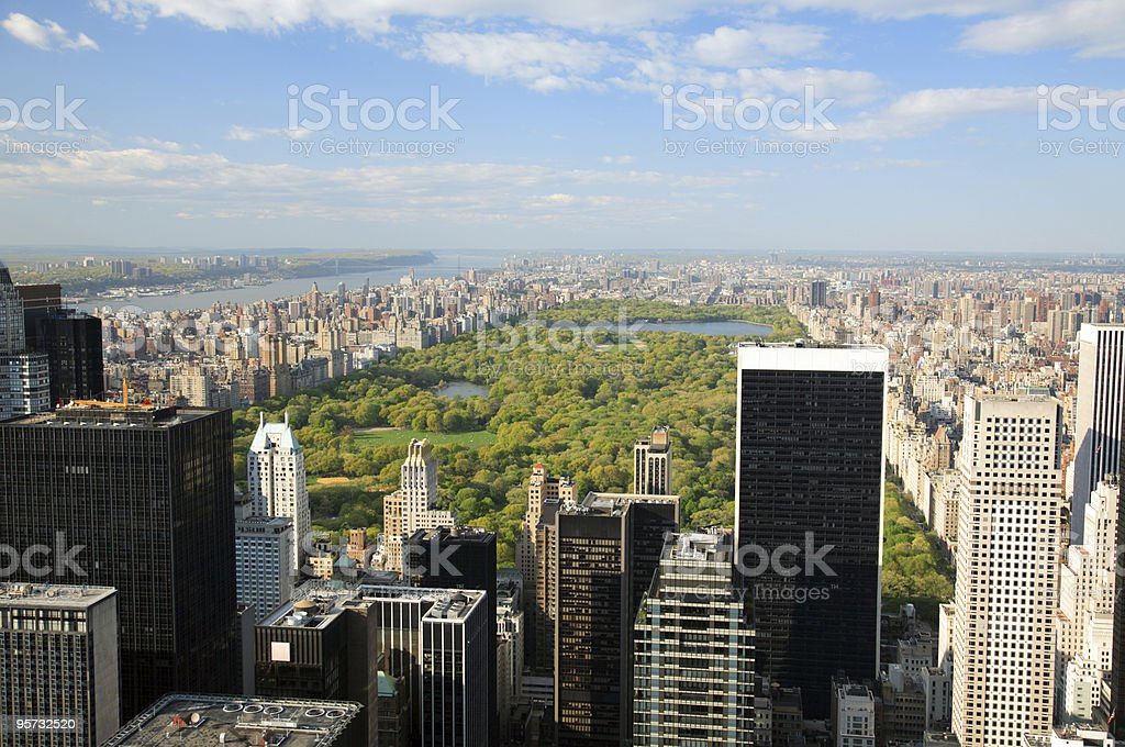 Aerial view of Central Park in New York City royalty-free stock photo