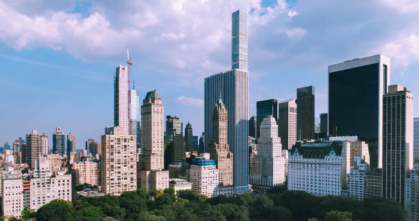 Aerial view of Central Park, Manhattan New York City stock photo