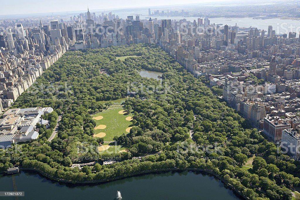 Aerial View of Central Park royalty-free stock photo