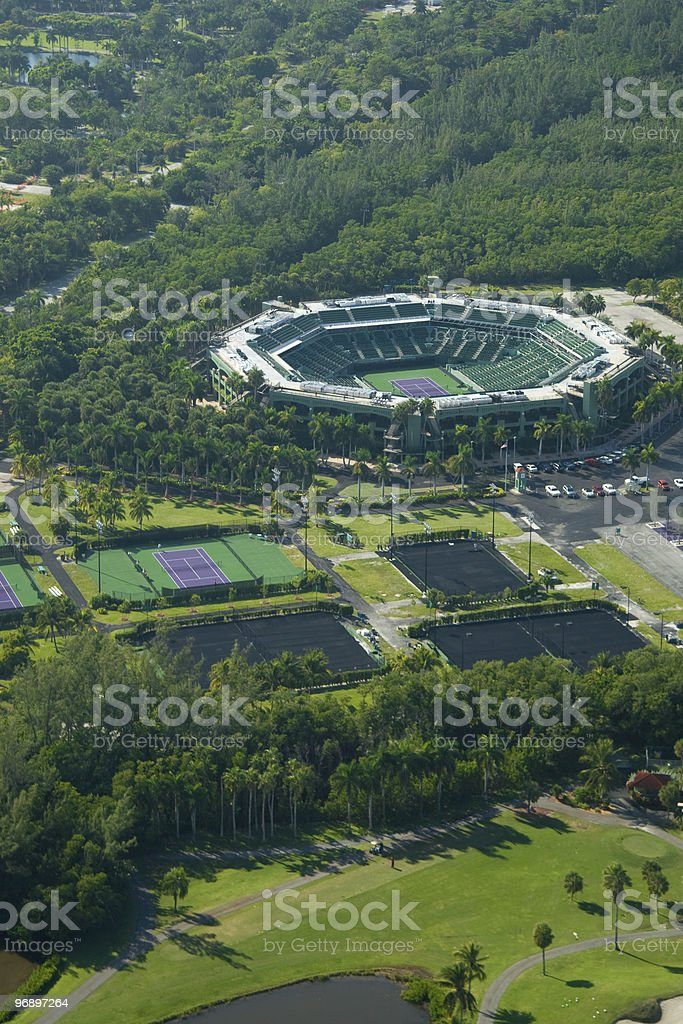 Aerial view of Chandon park tennis center royalty-free stock photo