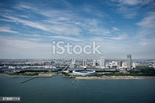 istock Aerial view of Chiba City 578561114