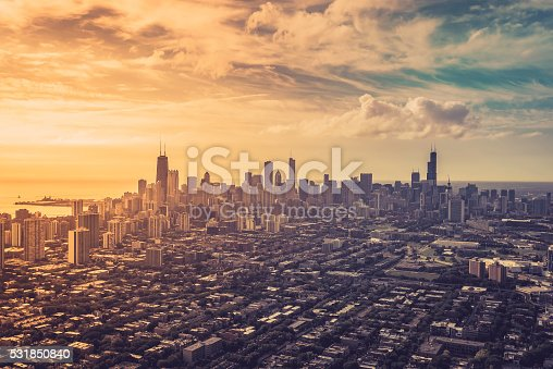 istock Aerial view of Chicago Downtown 531850840
