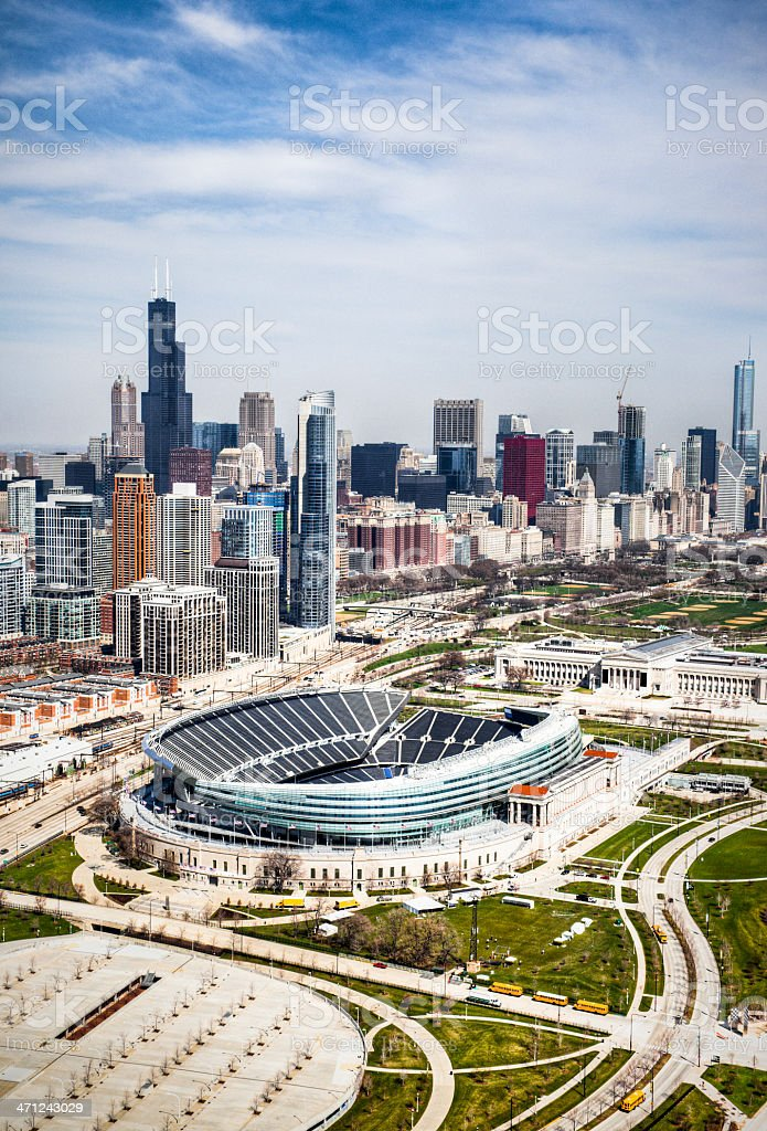 Aerial View of Chicago Skyline royalty-free stock photo