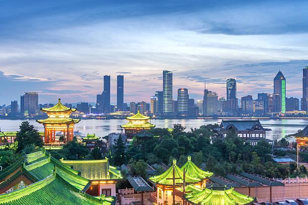 Luftaufnahme der chinesischen Stadt shenzhen – Foto