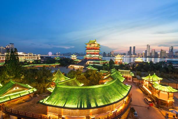 shenzhen çin şehrin havadan görünümü - guangdong i̇li stok fotoğraflar ve resimler