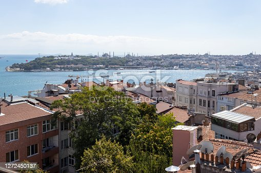 istock Aerial view of Cihangir District. 1272450137