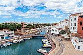 istock Aerial view of City and Marina de Ciutadella - Menorca, Balearic islands, Spain 1301132648