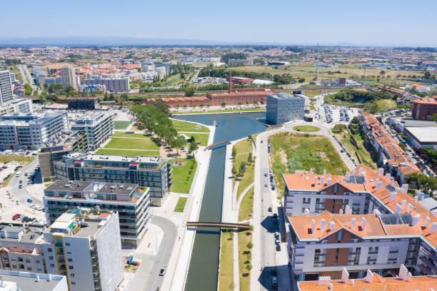 Luftaufnahme der Stadt Aveiro, Portugal – Foto