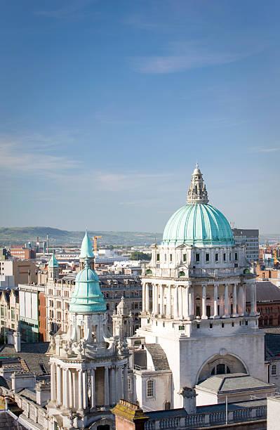 Vista aérea de la ciudad de Belfast, Hall - foto de stock