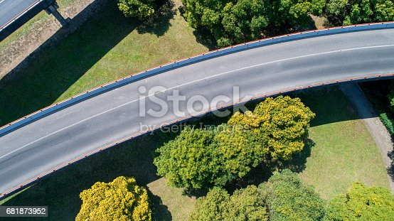 istock Aerial view of city Highway 681873952