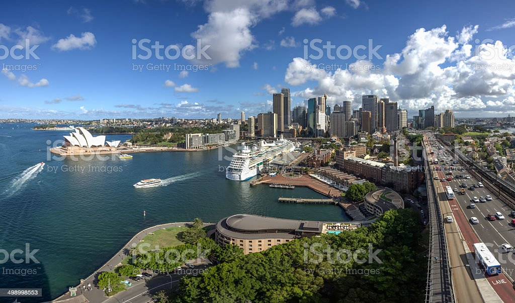 Aerial View of City of Sydney Daytime, Australia royalty-free stock photo
