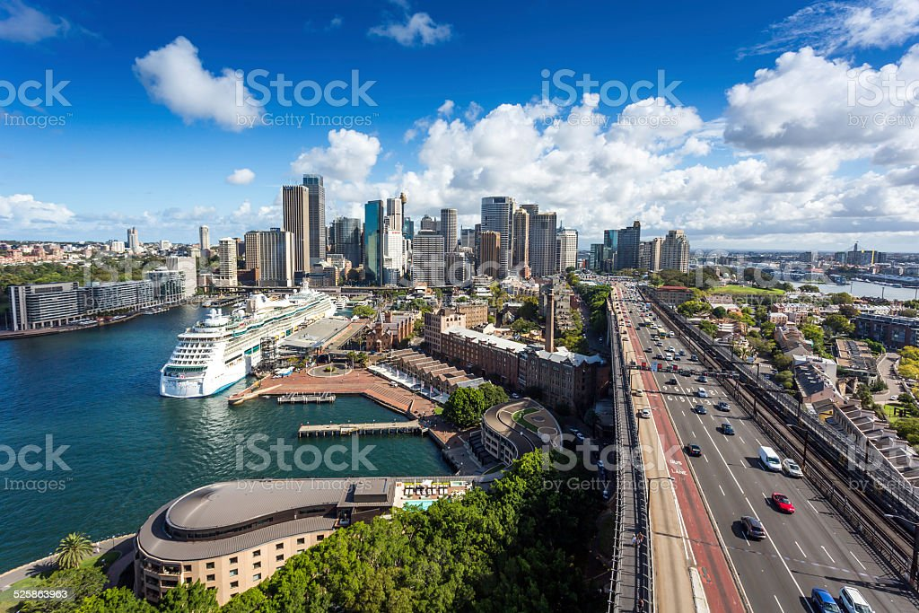 Aerial View of City of Sydney Daytime, Australia stock photo