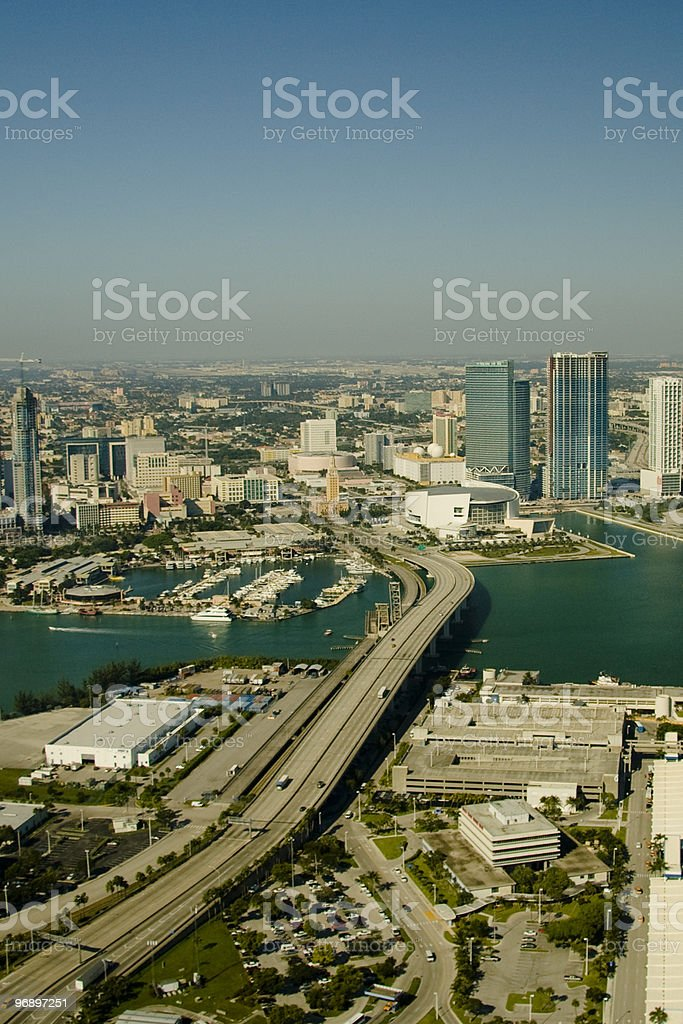 Aerial view of city royalty-free stock photo